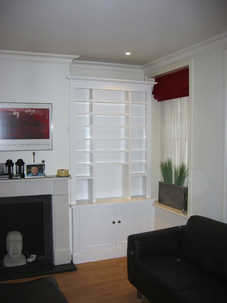 Alcove storage with CD shelving - The BookCase Co
