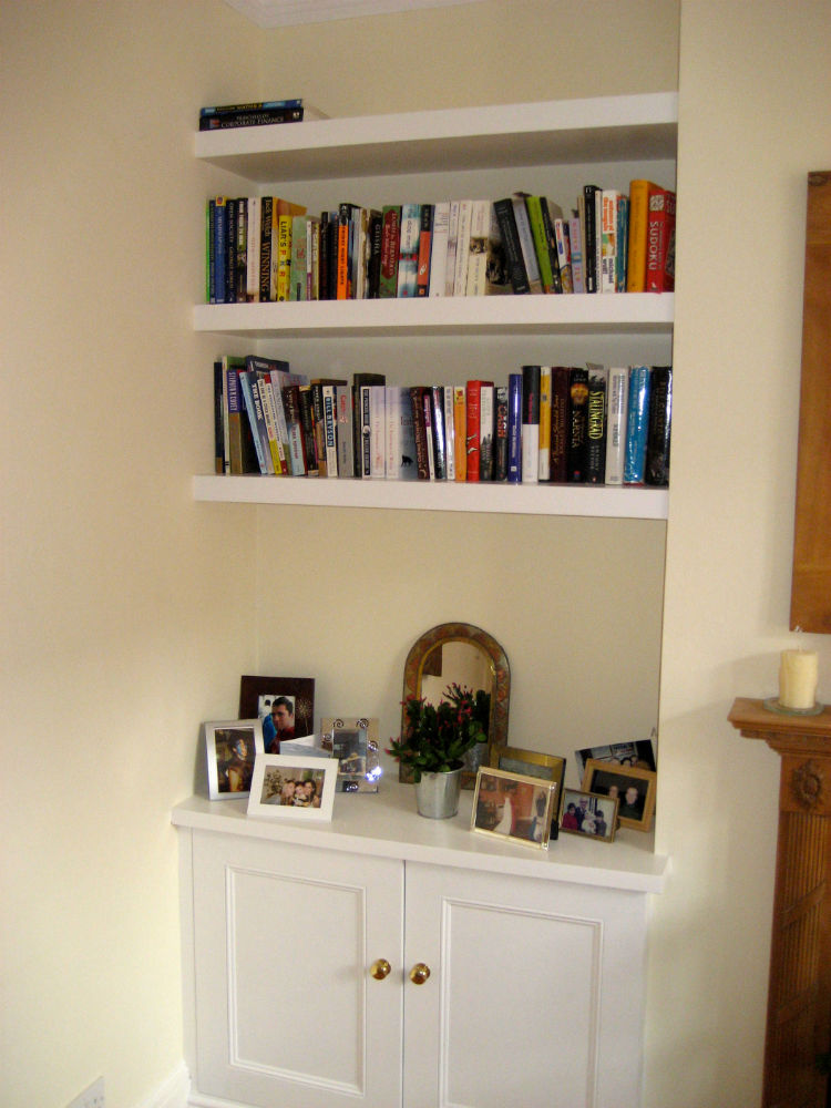 Base Alcove Cupboard with Floating Shelving - The BookCase Co