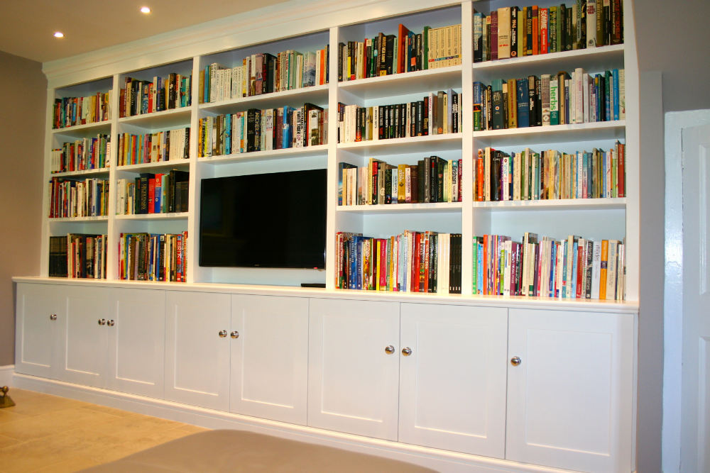 Bespoke Fitted Bookcase In Surrey The Bookcase Co