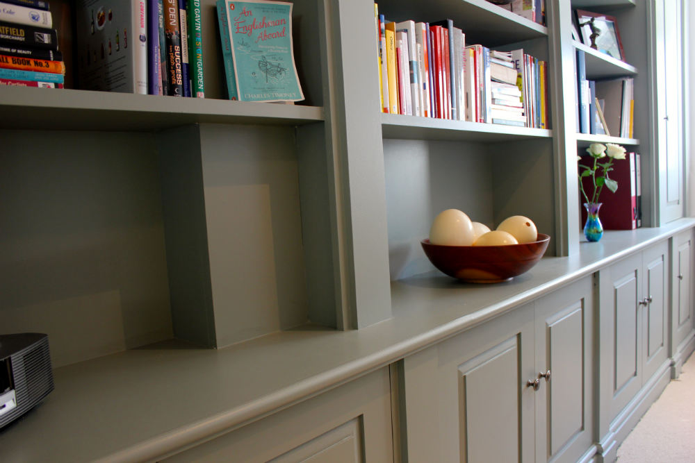 office unit. bespoke bookcases office unit