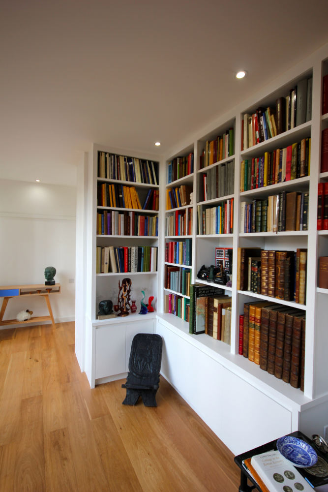 Bespoke Corner Library Unit In South East London The