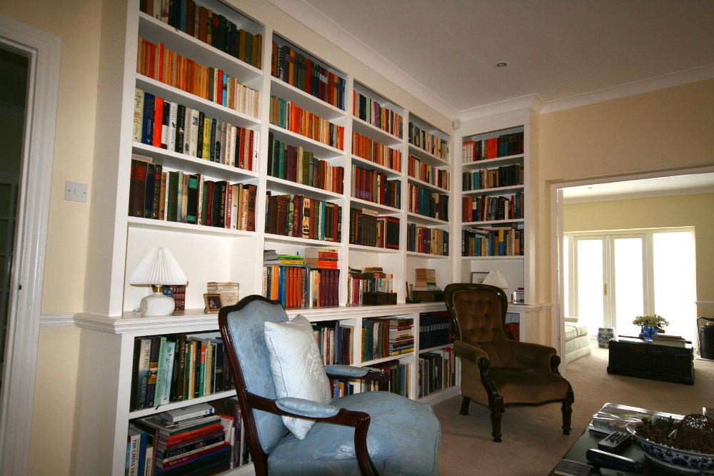 Built in Corner Bookcase Unit In Chelsea The BookCase Co