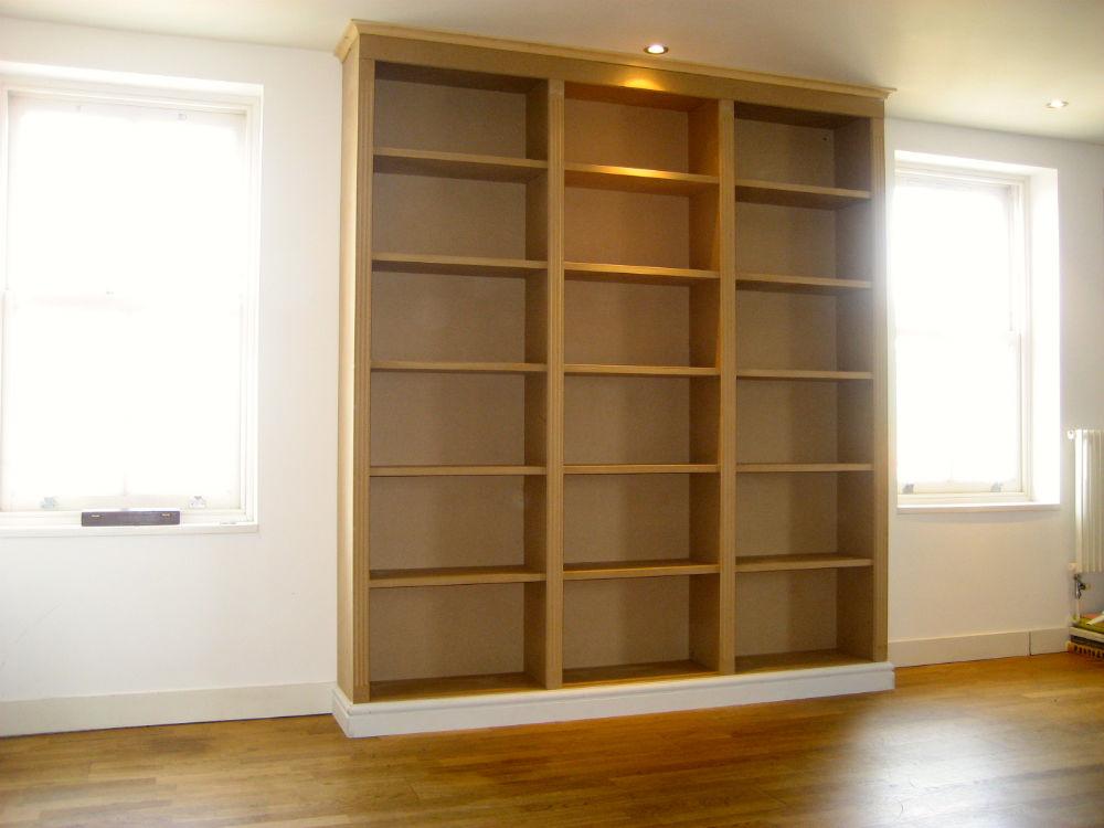 Unpainted Bookcase central London - The BookCase Co
