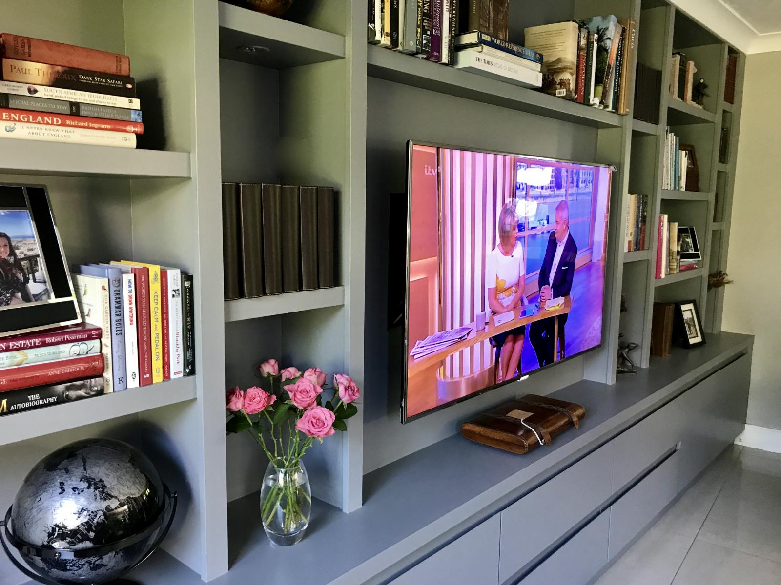 Modern Custom Built Media Bookcase Shelving Unit The BookCase Co